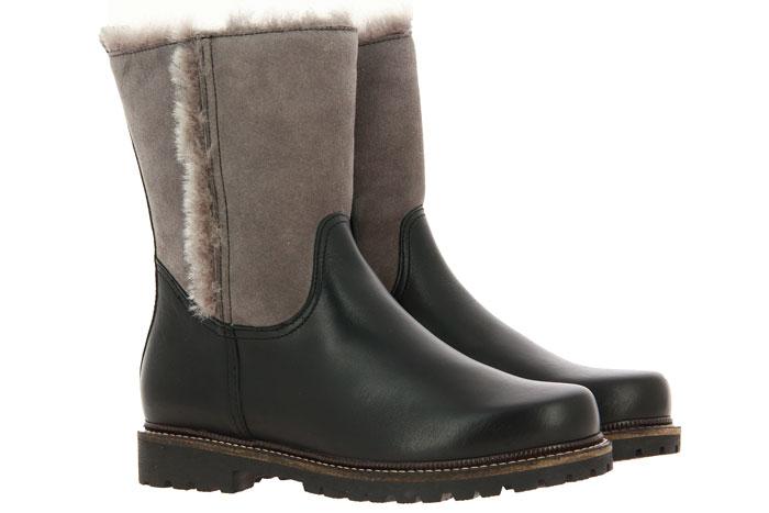 Dirndl + Bua ankle boots lined PANIOLO VELOUR SCHWARZ NIEBLA