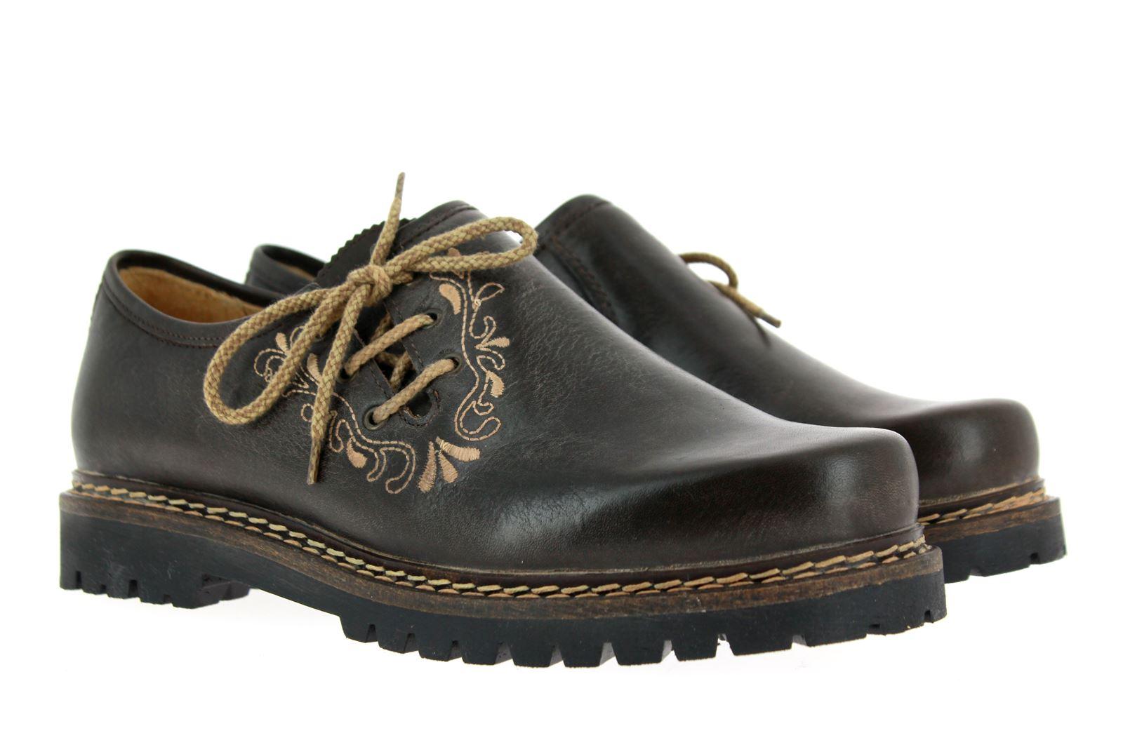 dirndl + bua Traditional Shoe PANIOLO FANGO USED LOOK