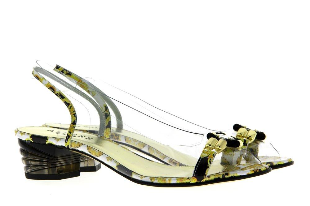 Azuree Cannes sandals NOCHU 84NC VERNIS FOULA NOIR