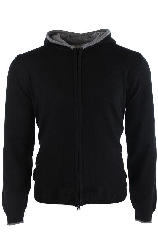 Vadrony jacket GIACCA CACHEMIRE BLACK GREY