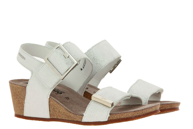Mephisto wedge sandals MORGANA SILVER ARTIC
