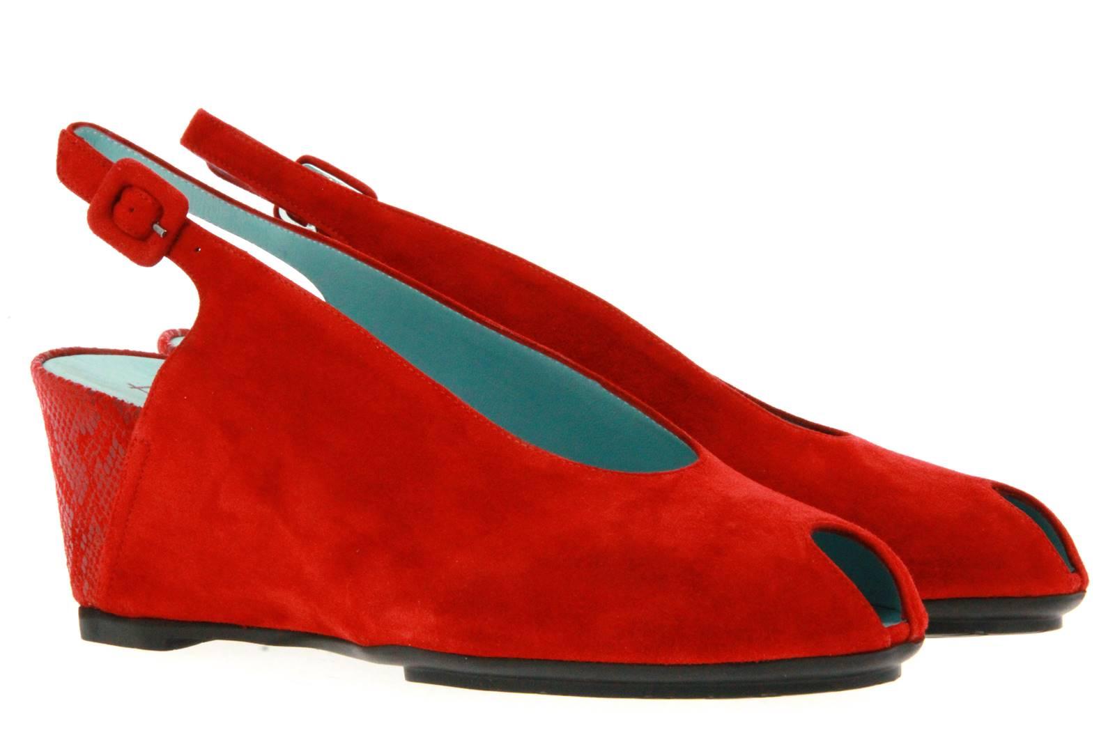 Thierry Rabotin sandal CAMOSCIO SIGNAL RED