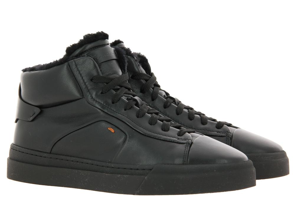 Santoni sneaker lined CAMOSCIO BLACK