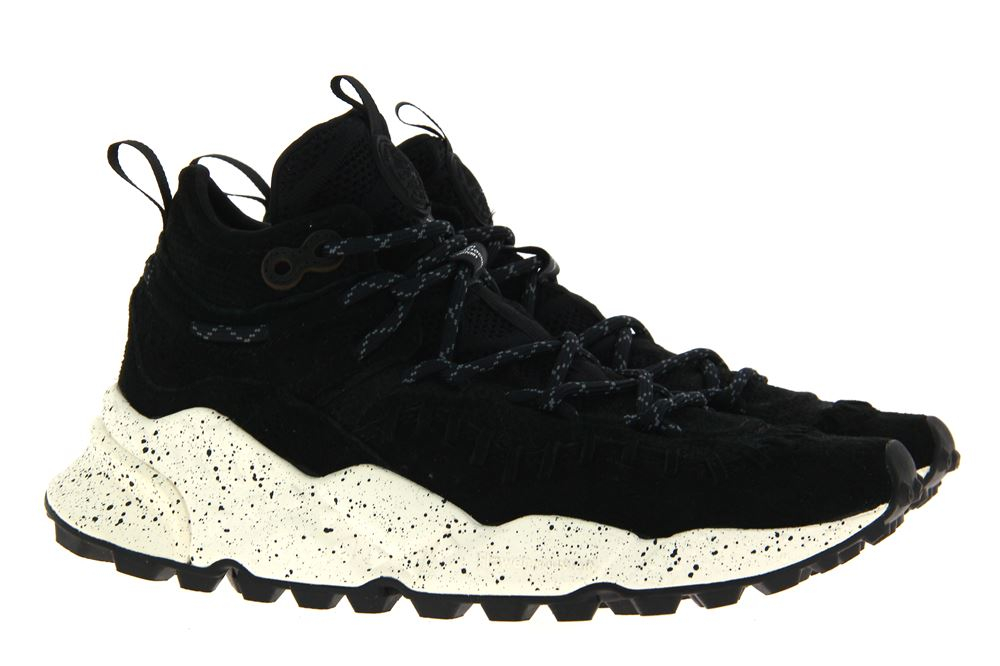 Flower Mountain sneaker MOHICAN MAN VELOUR BLACK