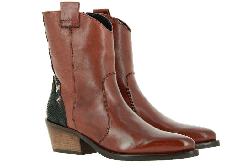 Donna Carolina ankle boots TEXAS CUOIO ASPIDE NERO