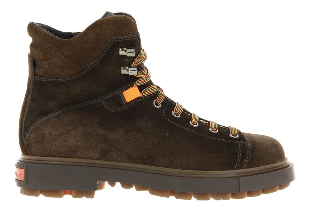 Santoni ankle boots CAMOSCIO DARK BROWN