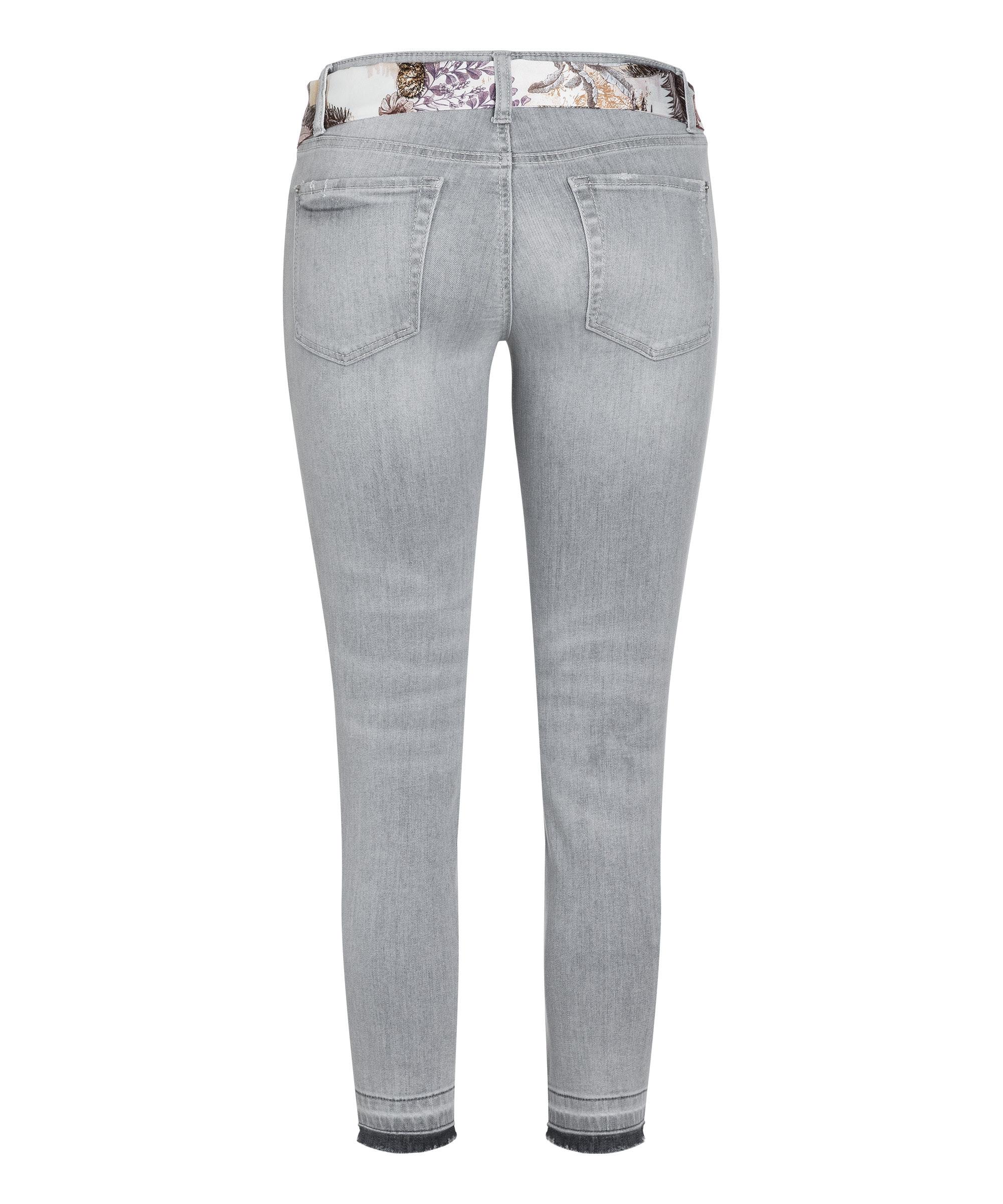 Cambio Jeans Liu short SUMMER GREY BACKSIDE OPEN HEM