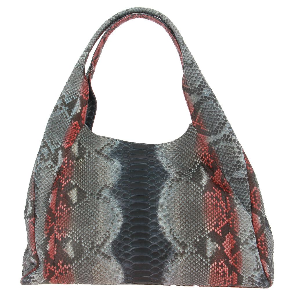 Ghibli handbag PITONE BLUE RED 793