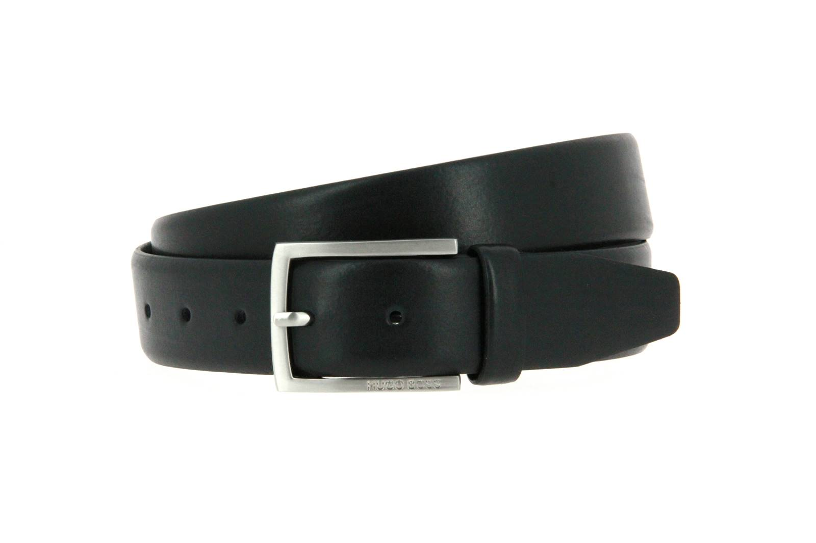 Hugo Boss belt BARNEY COW SKIN BLACK
