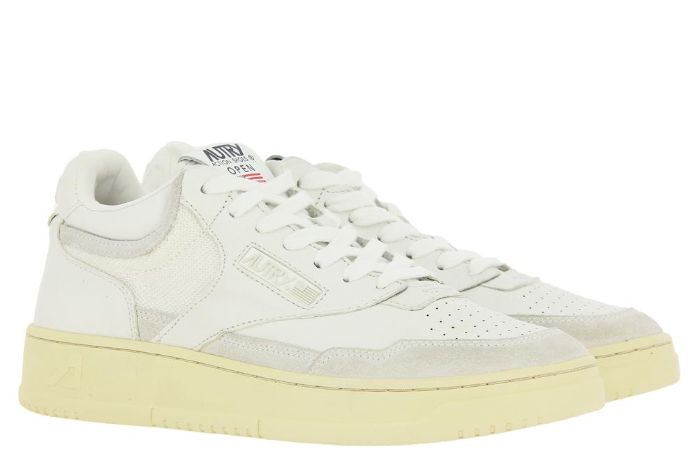 Autry Sneaker MID MAN OPEN ALL WHITE