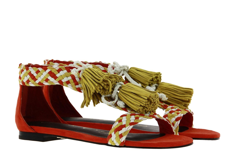 Lola Cruz sandals ORANGE WEISS