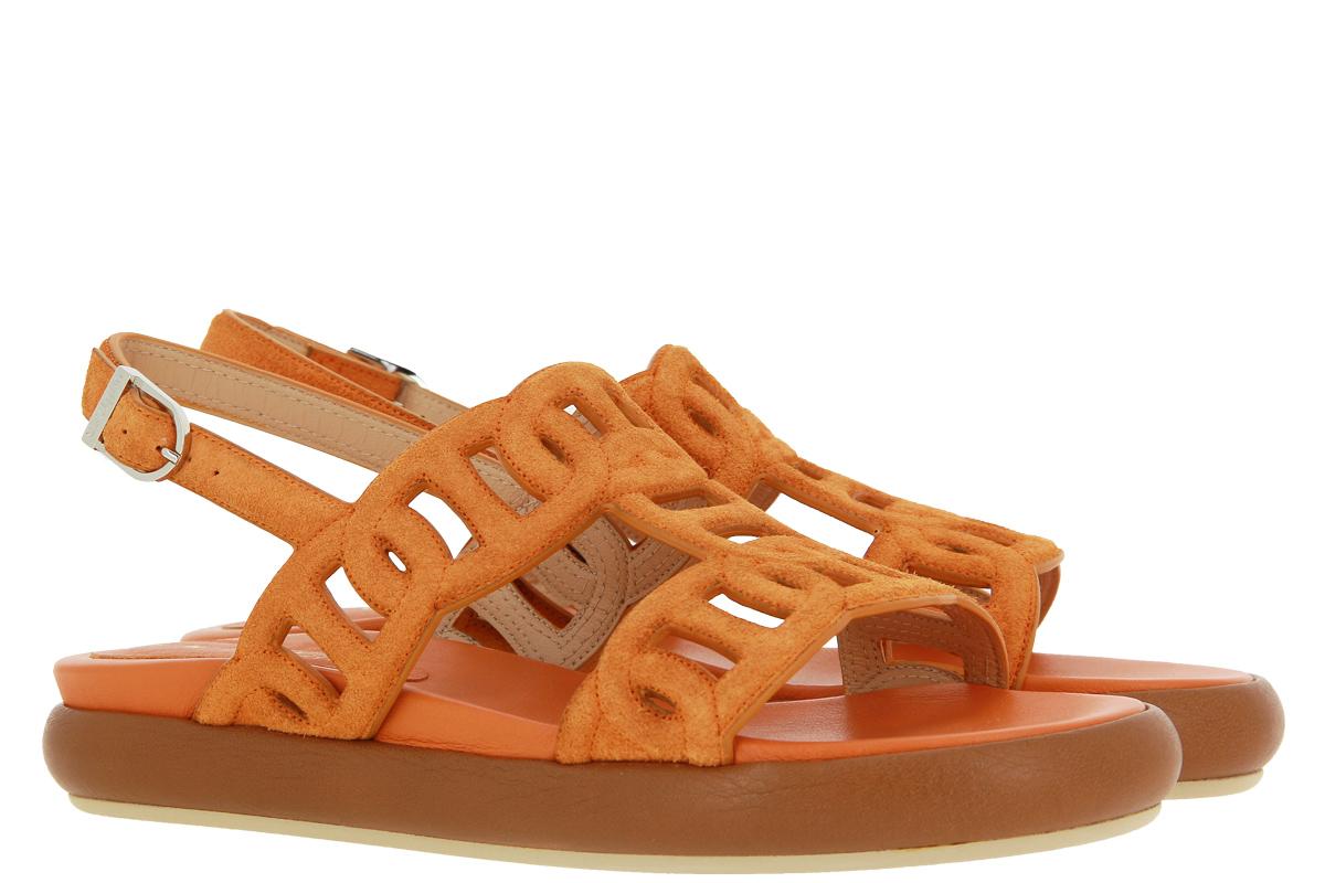 Unützer sandals VELOURS MOUSSE CUOIO