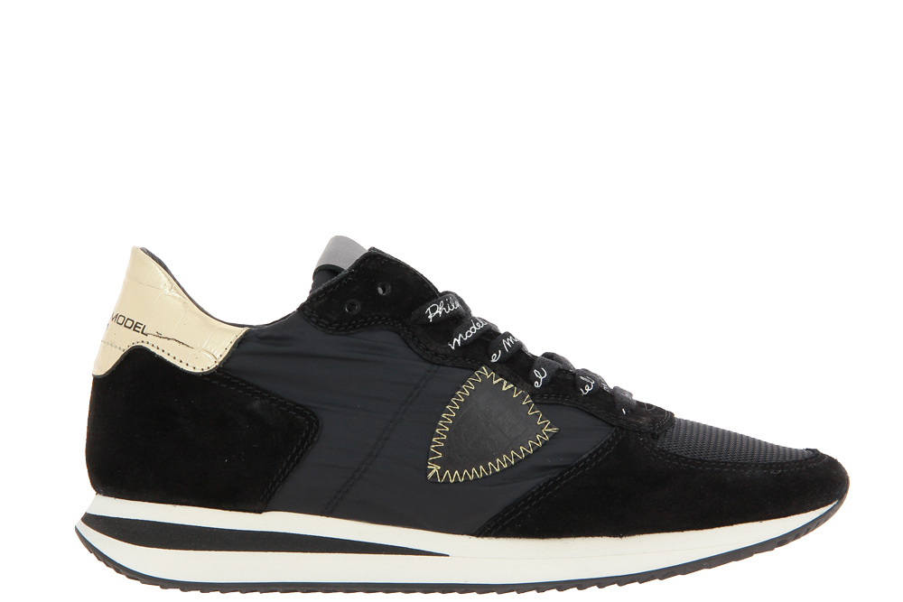 Philippe Model Sneaker TROPEZ LOW WOMAN MONDIAL CROCO NOIR