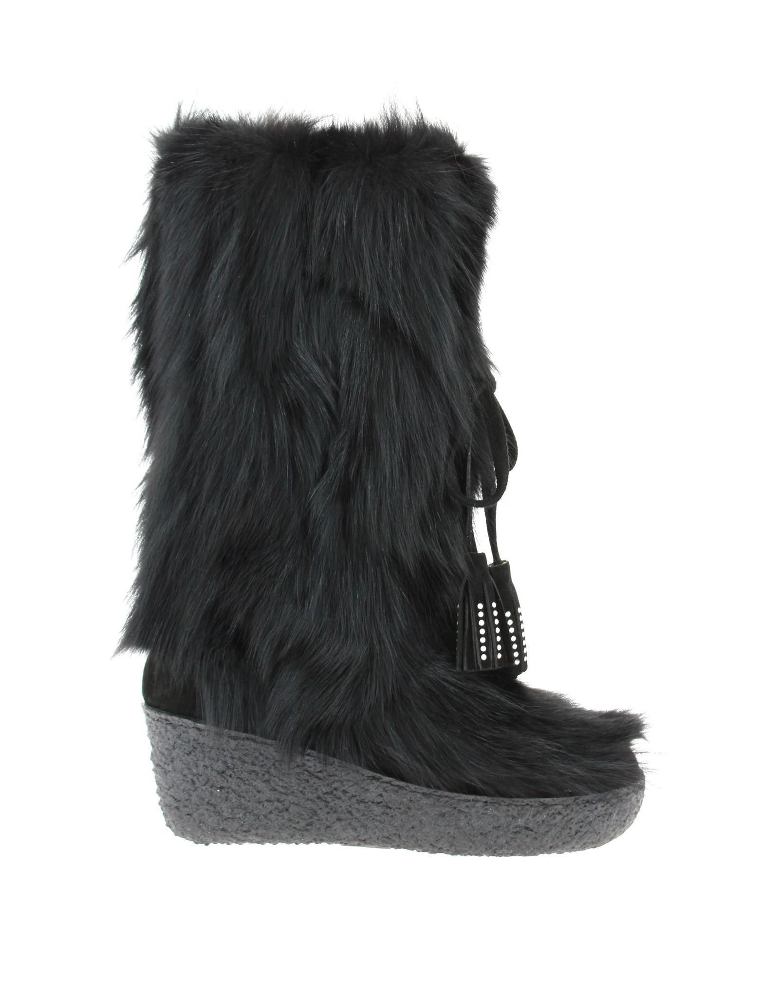 Diavolezza fur boots FOXY NERO