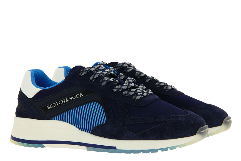 Scotch & Soda sneaker VIVEY SUEDE NYLON BLUE MULTI