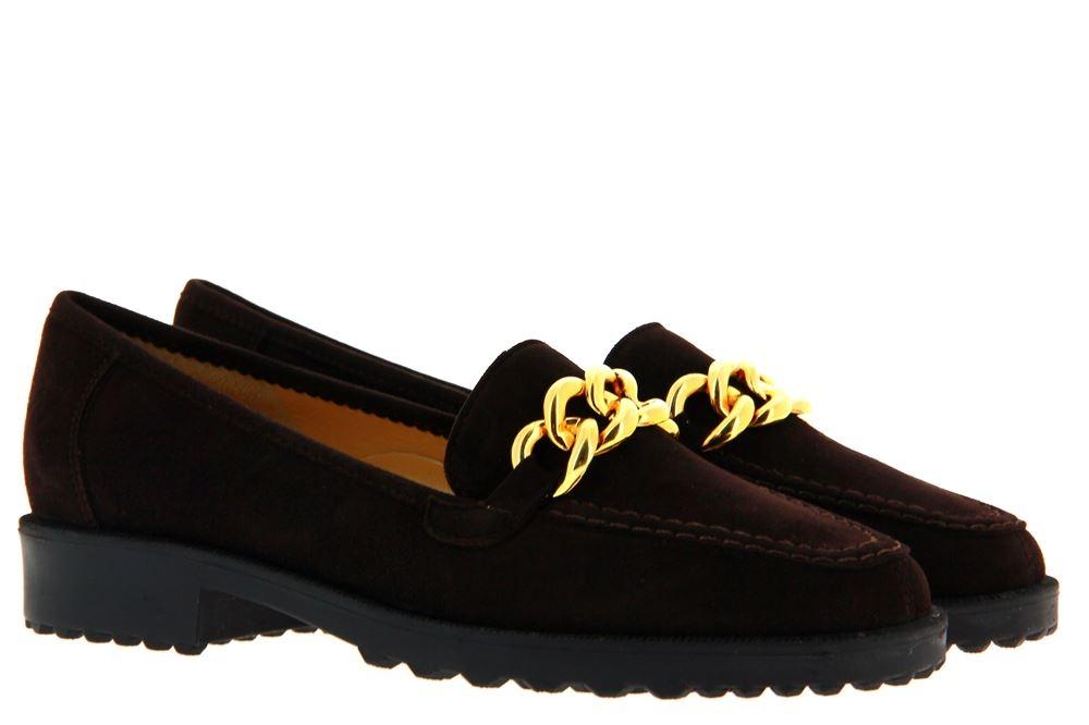 Brunate slipper DANY CAMOSCIO MORO GOLD