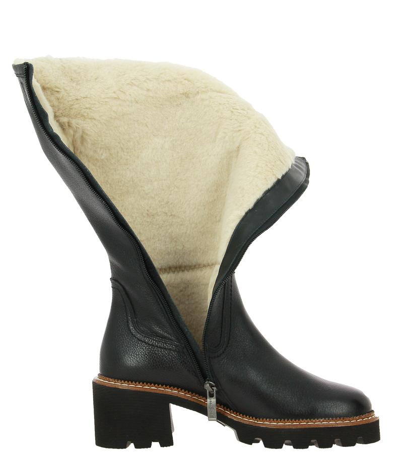 Paul Green boots lined MAJOR CALF BLACK