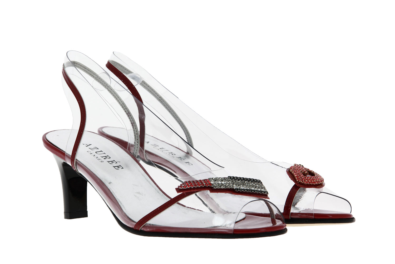 Azuree Cannes sandals NETISH 77C VERNIS ROUGE