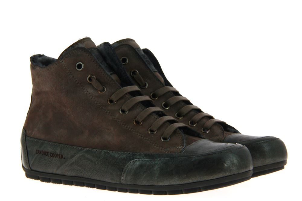 Candice Cooper sneaker lined PLUS SHEARLING CAMOSCIO OLMO