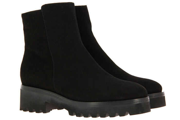 Luca Grossi ankle boots lined CAMOSCIO NERO