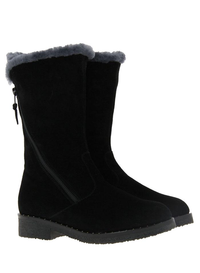 Baldan boots lined VELOUR NERO