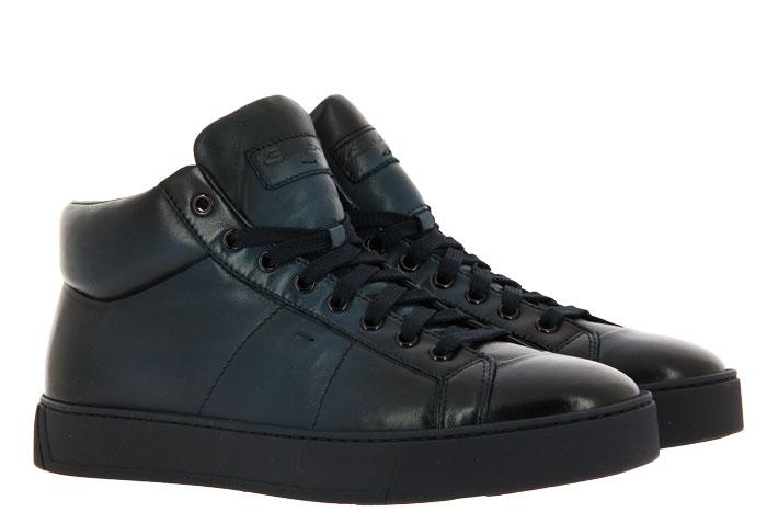 Santoni High Top sneaker CALF BLU
