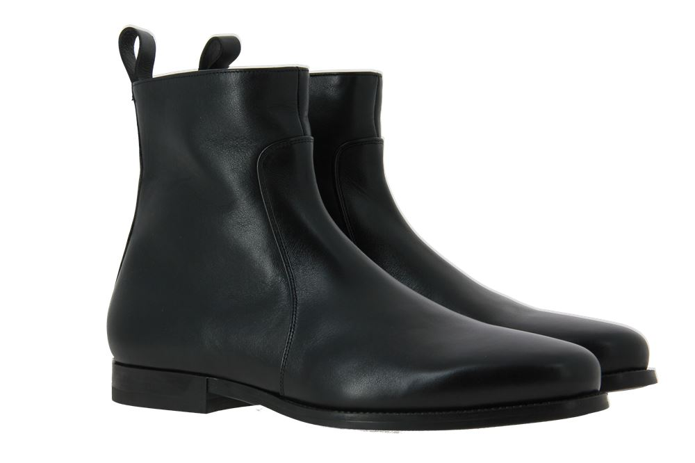 Santoni ankle boots lined NAPPA NERO