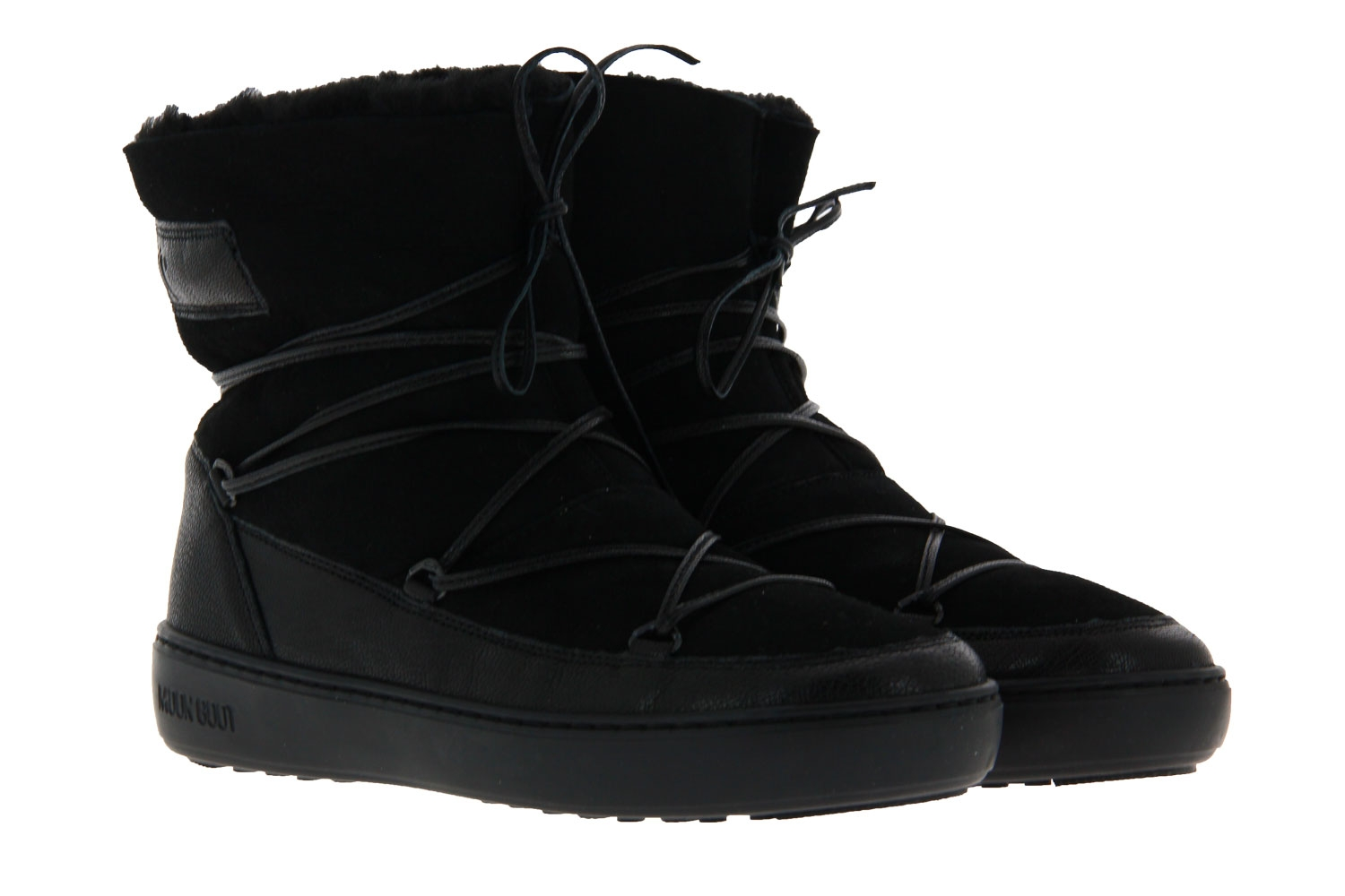 Moon Boot snow boot lined PULSE LOW SHEARLING SCHWARZ