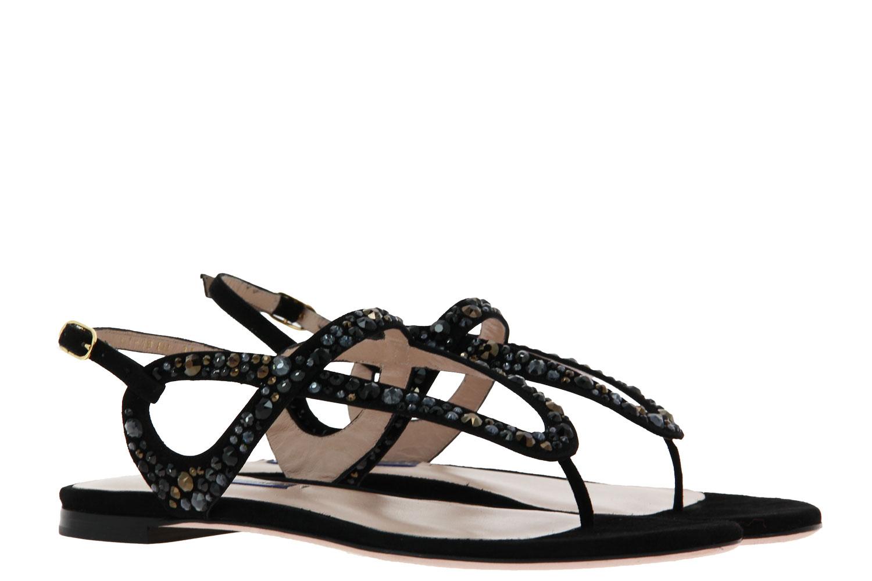 Stuart Weitzman sandals ALLURA BLACK SUEDE CRYSTAL