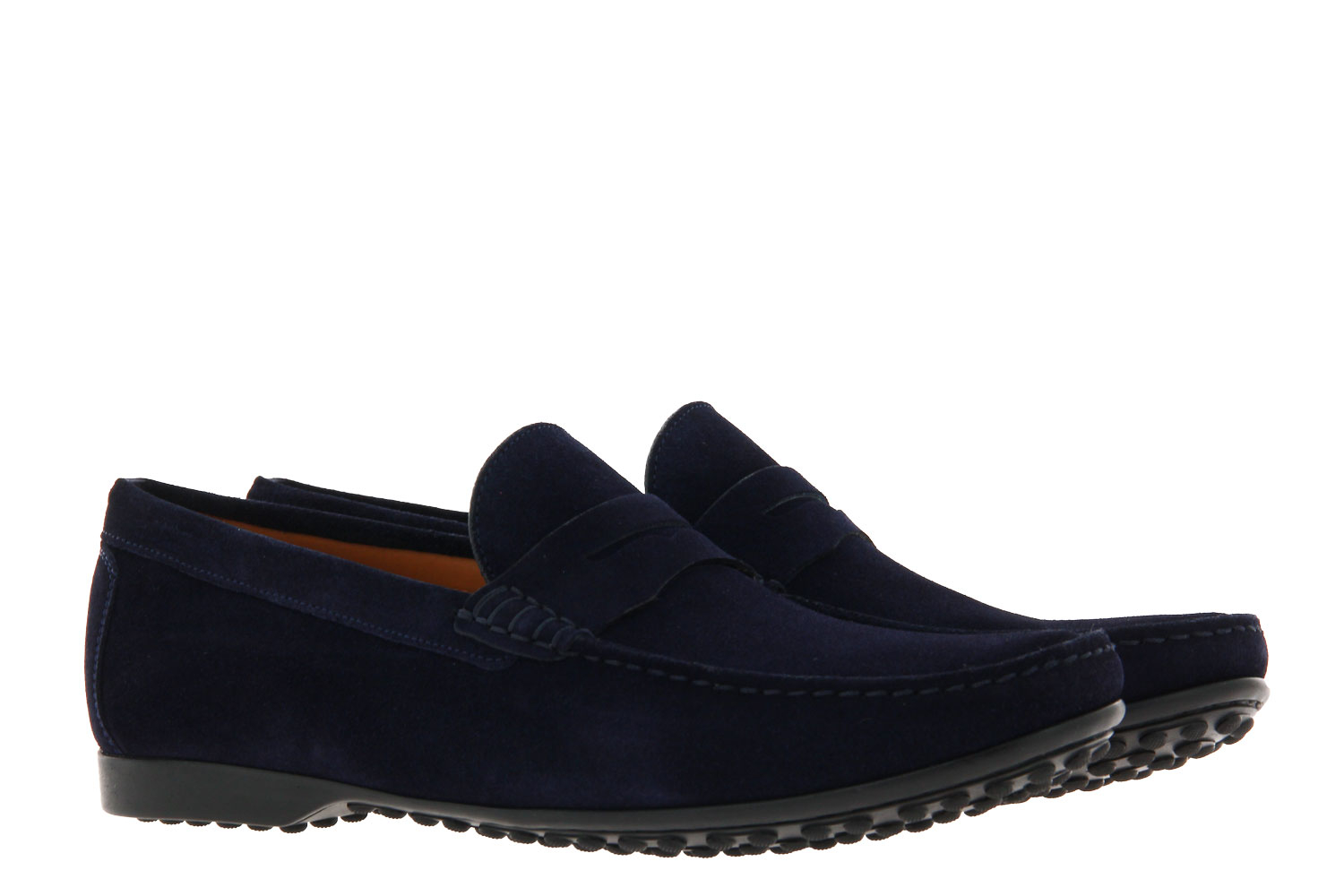 Ludwig Reiter moccasin PENNY LOAFER NAVY