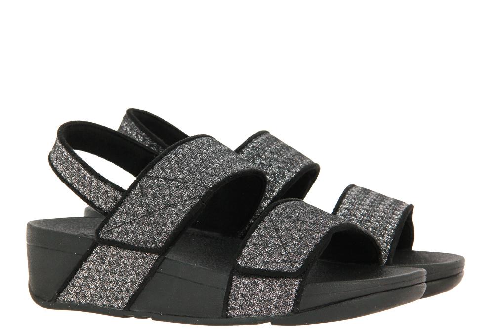 Fitflop sandals MINA GLITTER WEAVE BLACK