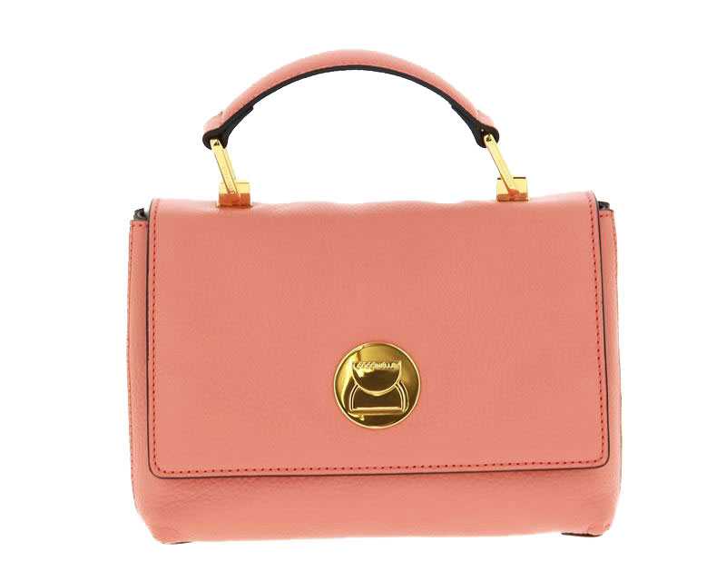 Coccinelle shoulder bag LIYA PEACH/CHOCOLATE