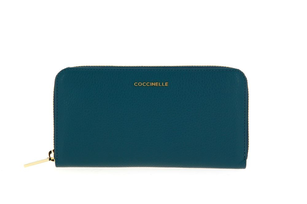 Coccinelle wallet VITELLO TEAL