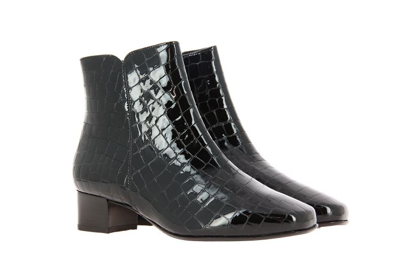 Hassia ankle boots EVELYN CROCCOLACK SCHWARZ