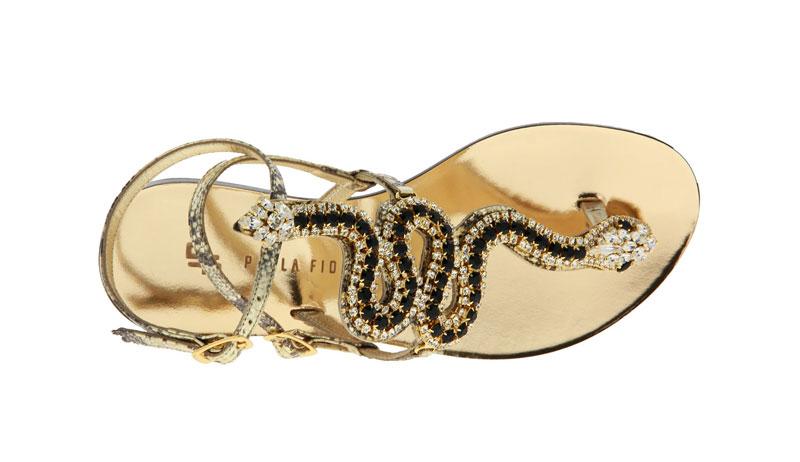Paola Fiorenza sandals DRAGEE ORO PIETRE