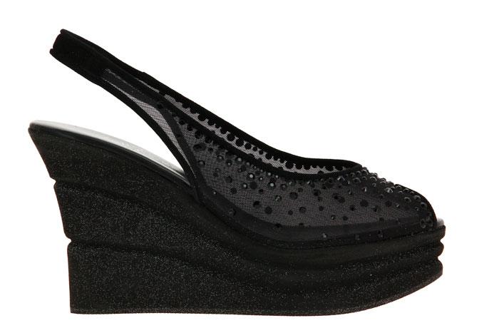 Fernando Pensato wedge sandals SHEINE-ORG NERA CAMOSCIO NERO DUBAI