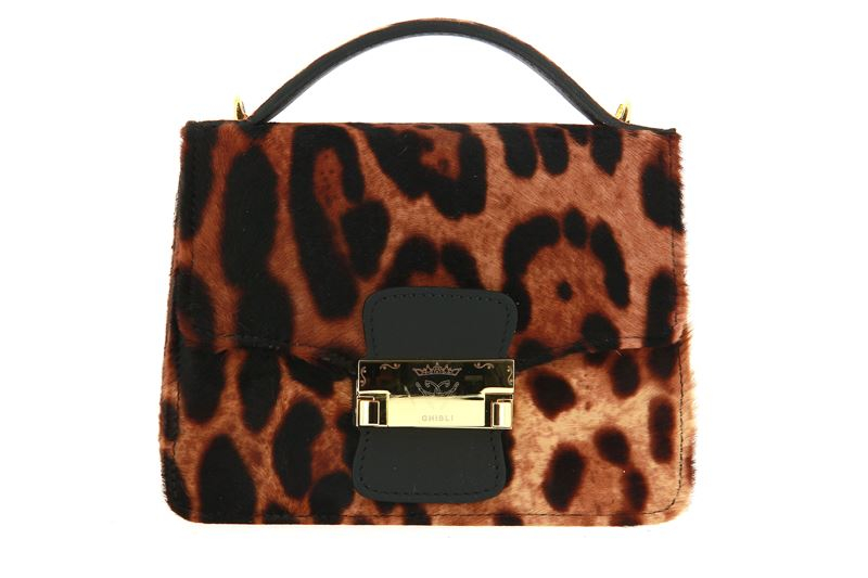 Ghibli shoulder bags  VITELLO PONY LEOPARD