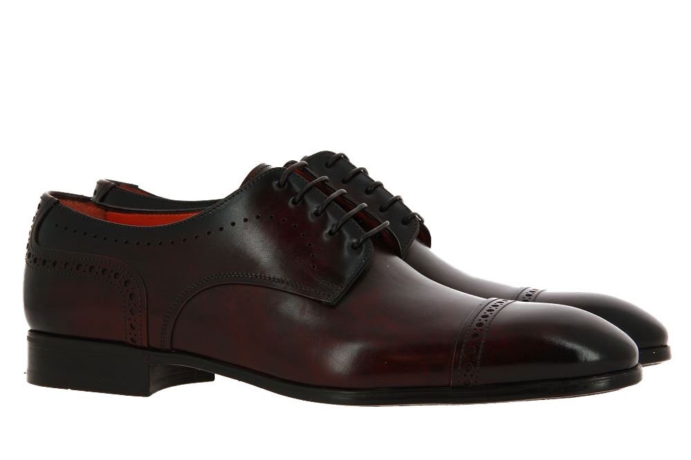 Santoni lace-up LEATHER BROWN
