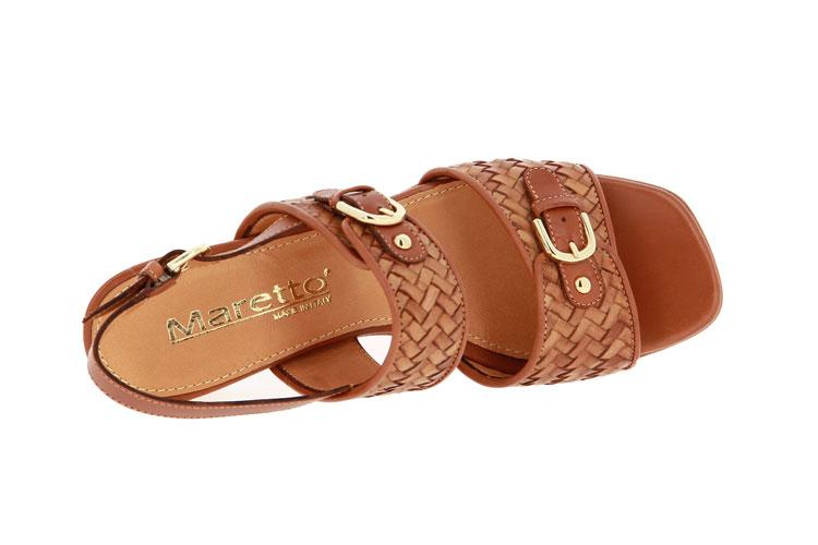 Maretto sandals INTRECCIATO COGNAC CINNAMON