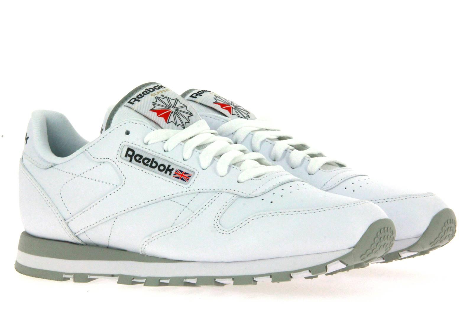 Reebok sneaker CLASSIC LEATHER WHITE LT. GREY