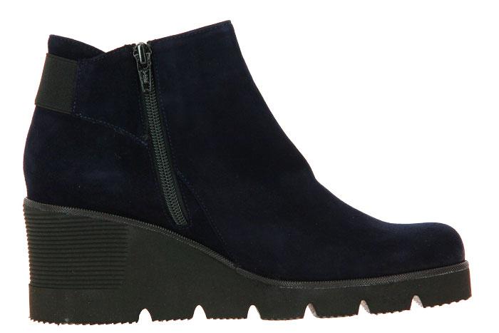 Brunate wedge ankle boots NEON CAMOSCIO BLU