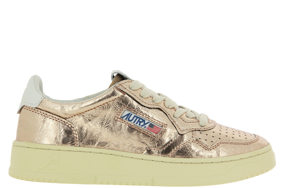 Autry sneaker LOW WOMAN LEATHER GOLDEN ROSE