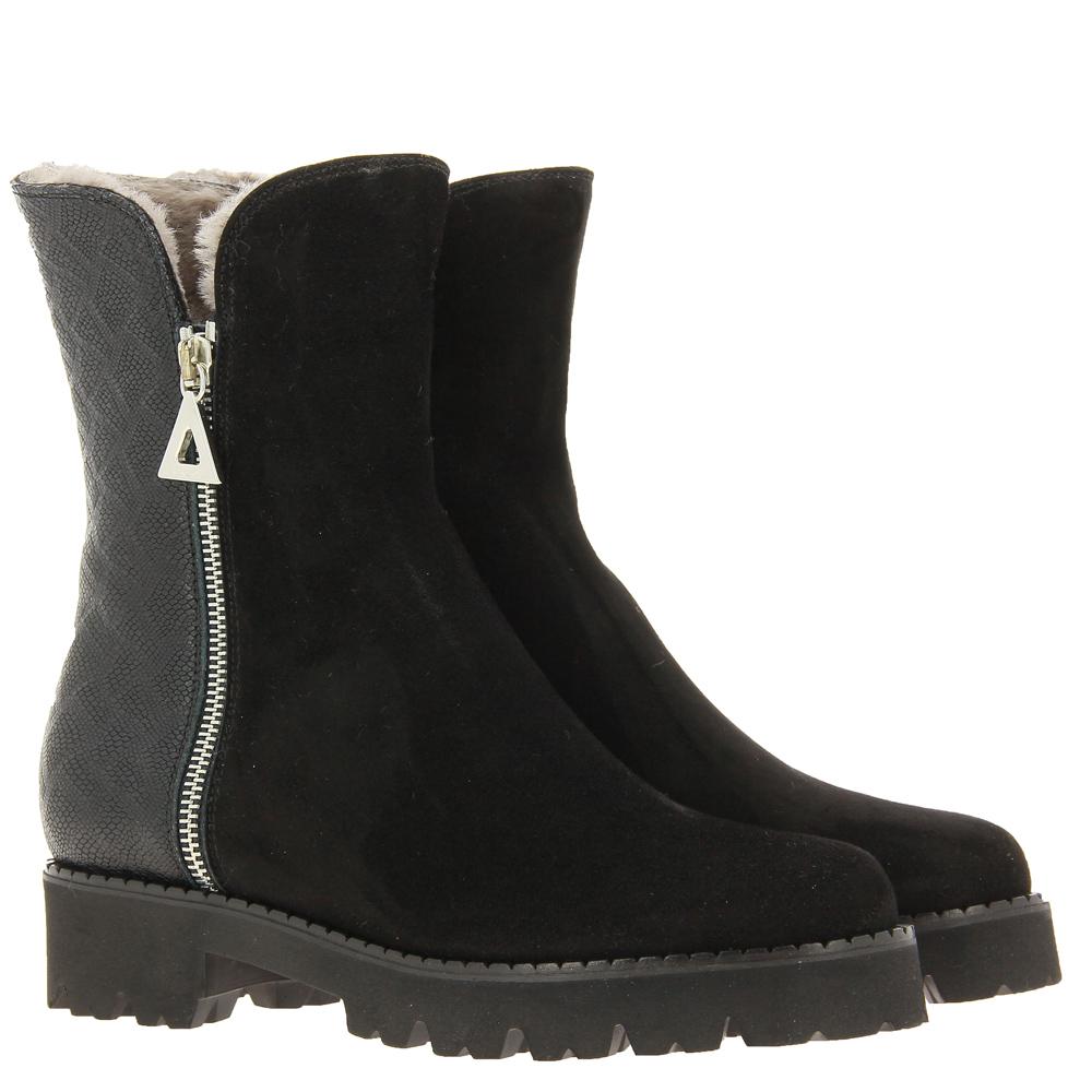 Lorbac ankle boots lined MAGDA CAMOSCIO NERO SAID NERO