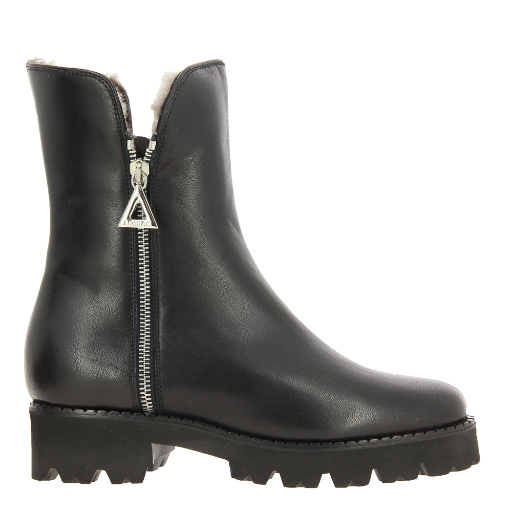 Lorbac ankle boots lined MAGDA NAPPA NERO