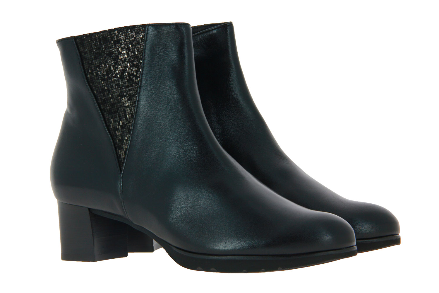 Hassia ankle boots SEVILLA WEITE-G NAPPALUX BLACK ANTRACIT
