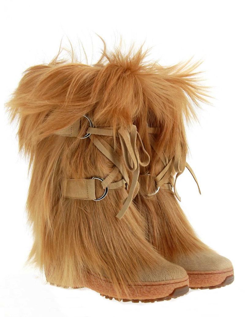 Oscar Sport fur boots ARISA BEIGE