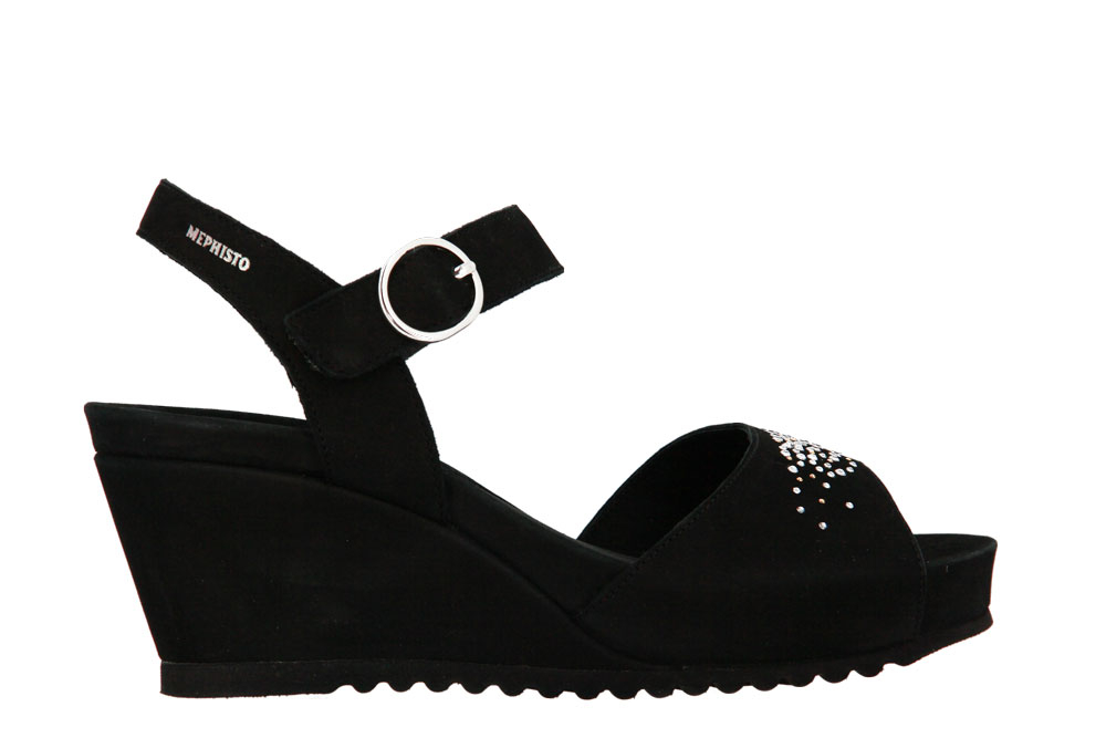Mephisto sandals GABY SPARK BLACK BUCKSOFT