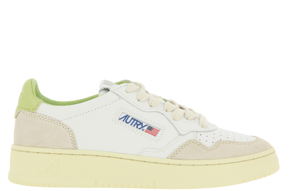 Autry sneaker LOW WOMAN LEATHER SUEDE WHITE GREEN