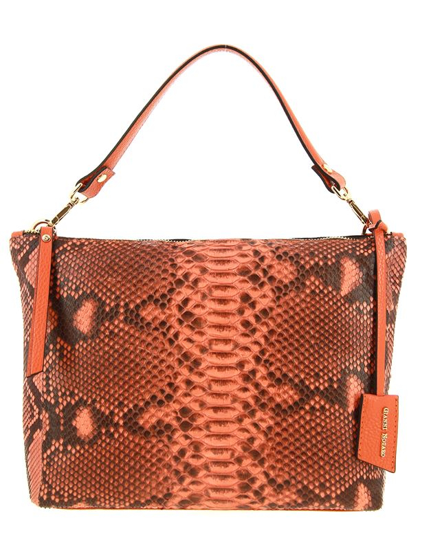 Carol J. bag PITHON DOLLARO ORANGE
