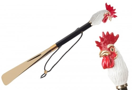 Pasotti shoe horn ROOSTER GOLD